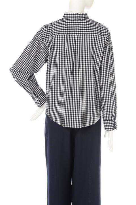 【大きいサイズ】[WEB限定商品]T/Cシャツ ストライプ ギンガムチェック