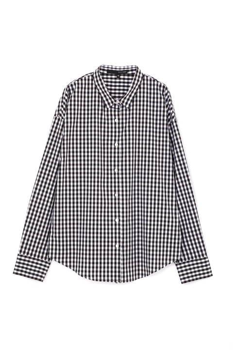 [WEB限定商品][ウォッシャブル]【大きいサイズ】T/Cシャツ ストライプ ギンガムチェック