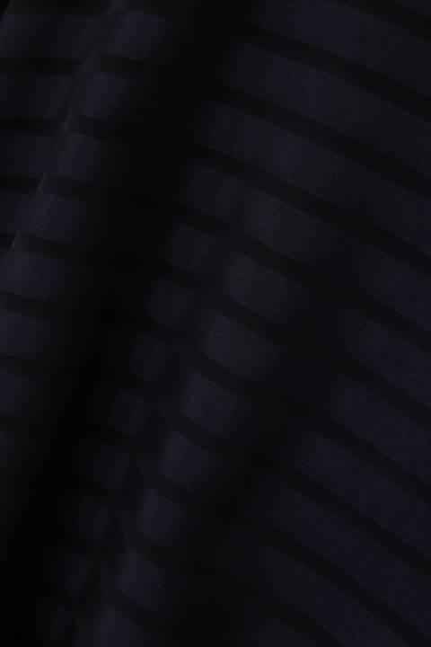 [ウォッシャブル]シアーボーダーブラウス