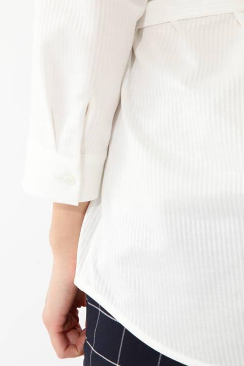 ジャージーストライプシャツ