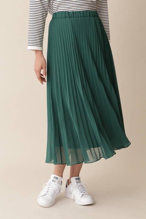 [ウォッシャブル][Weekend Line]プリーツスカート