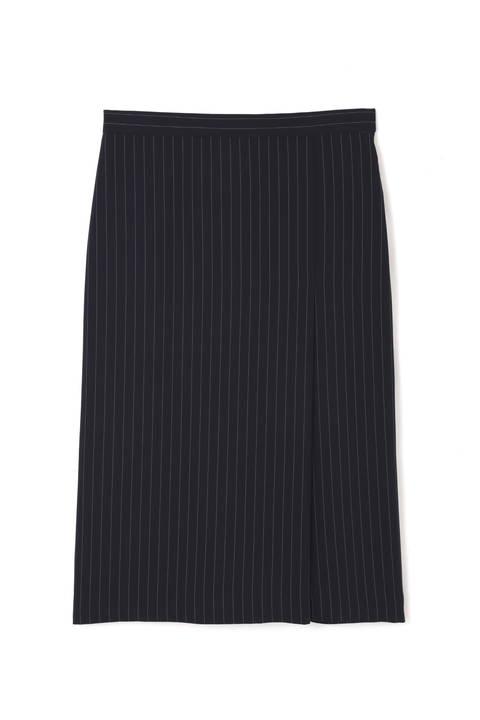 [ウォッシャブル]ツイルストレッチタイトスカート