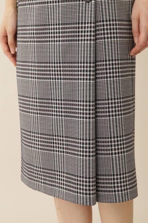 【先行予約 8月上旬入荷予定】[ウォッシャブル]グレンチェックジャージースカート