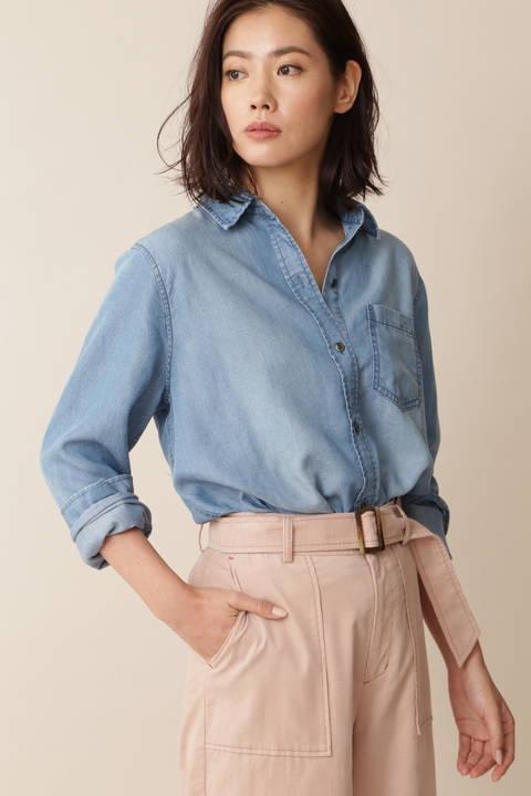 [Weekend Line]デニムシャツ