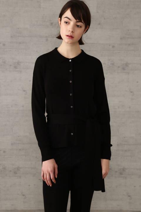 リブニットシャツ