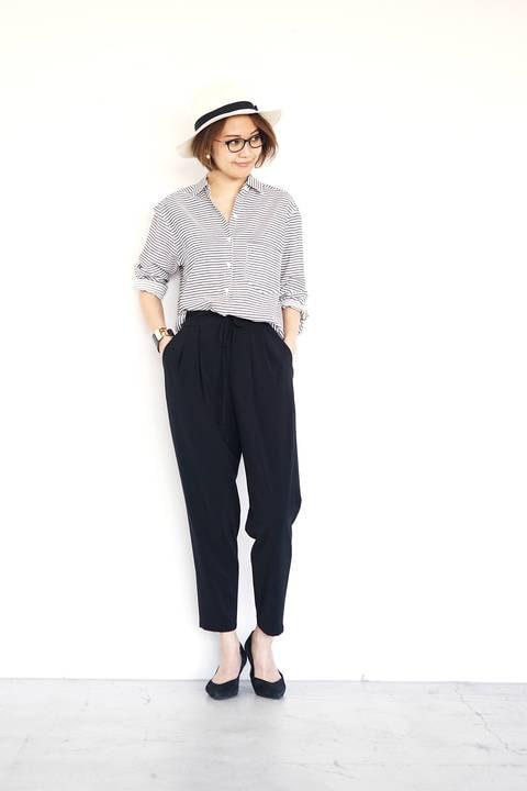 [ウォッシャブル]ボーダーシャツ【15000UNDER】