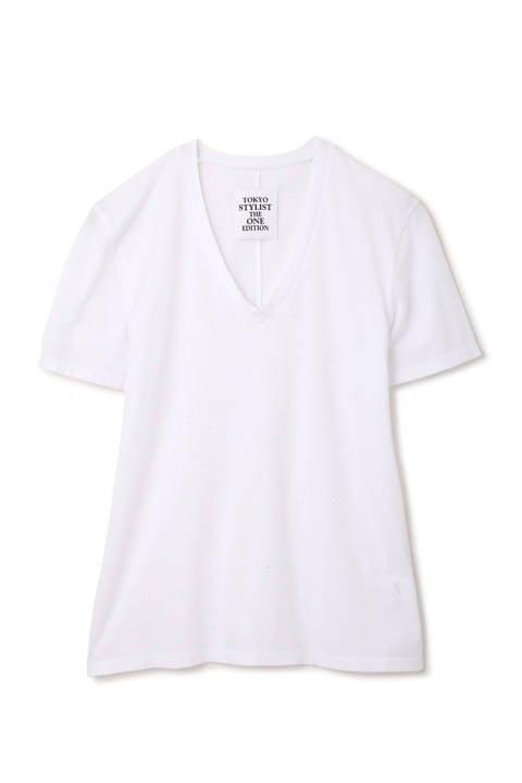 【With 4月号掲載】[ウォッシャブル]VネックTシャツ