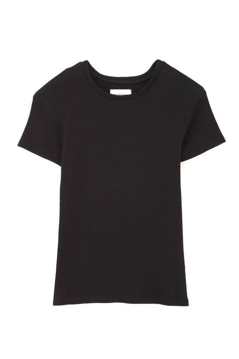 [ウォッシャブル]テレコクルーTシャツ