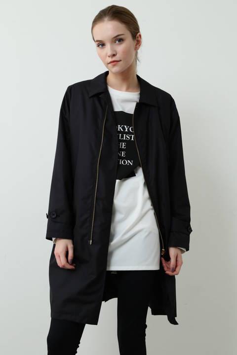ステンカラー中綿コート