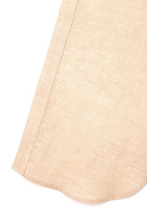 綿麻ロングシャツワンピース