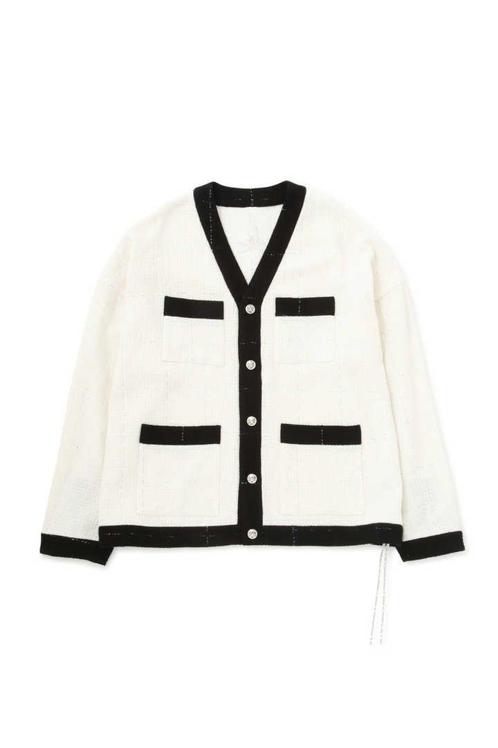 Cotton Tweed Cardigan