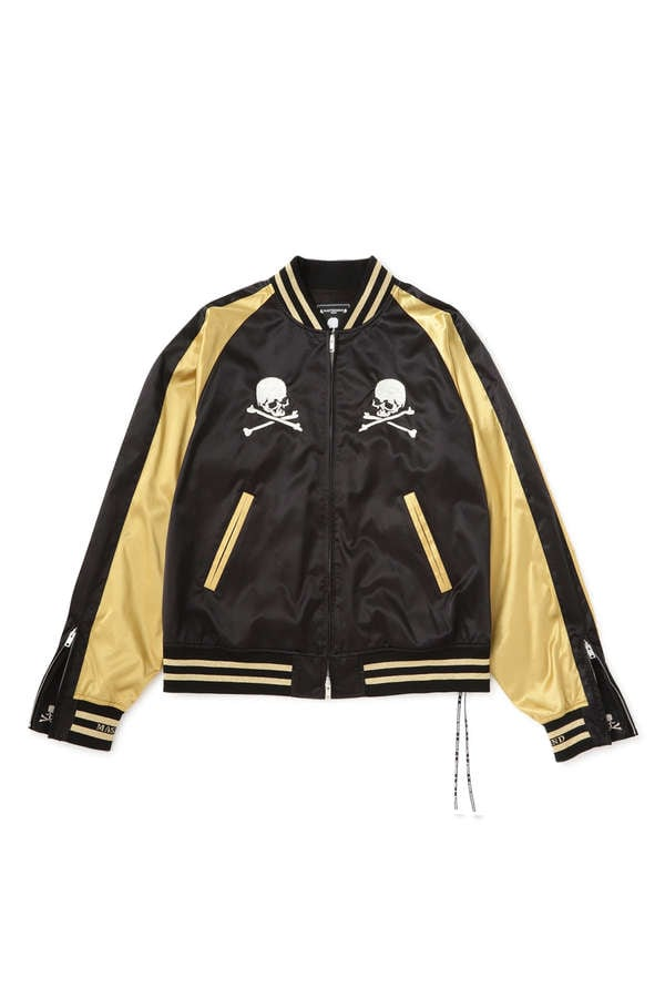 Nylon Skull Bomber Jacket