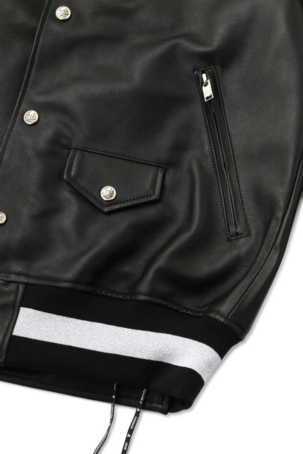 Lambskin Hooded Varsity Jacket
