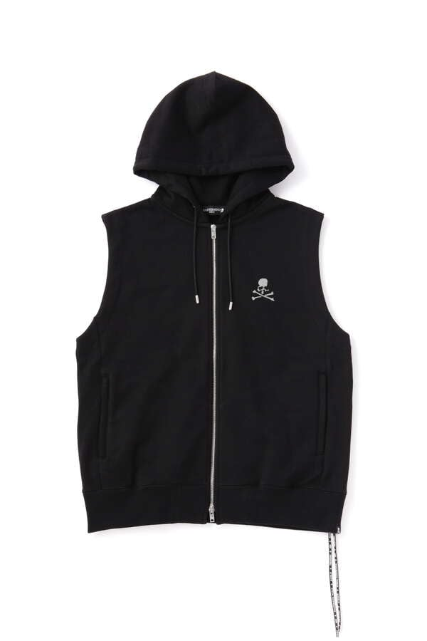 Glass Beaded Sleeveless Hoodie