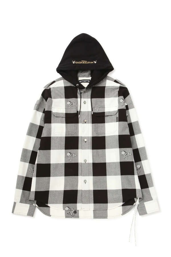 Block Check Hooded Shirt