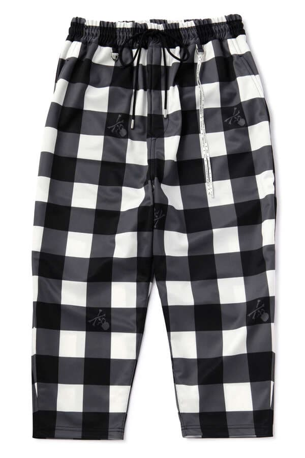 Boxy Block Check Pants