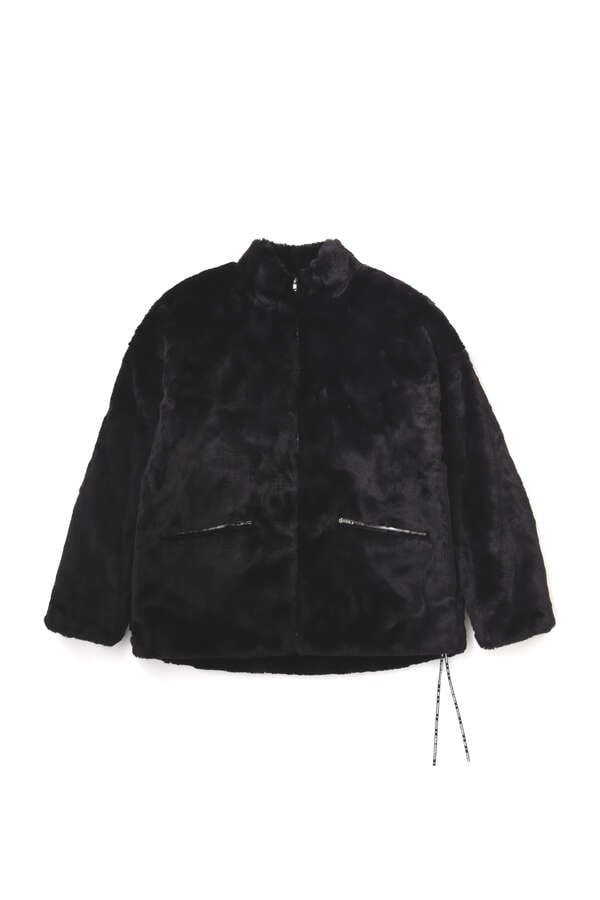 Faux Fur Stand Neck Z/U Jacket