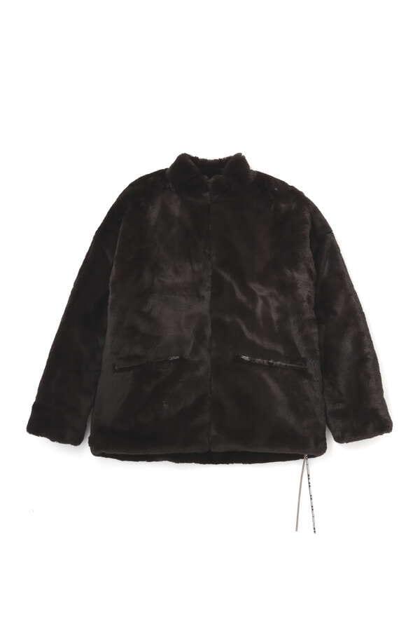 Faux Fur Stand Neck Z/U Jacket