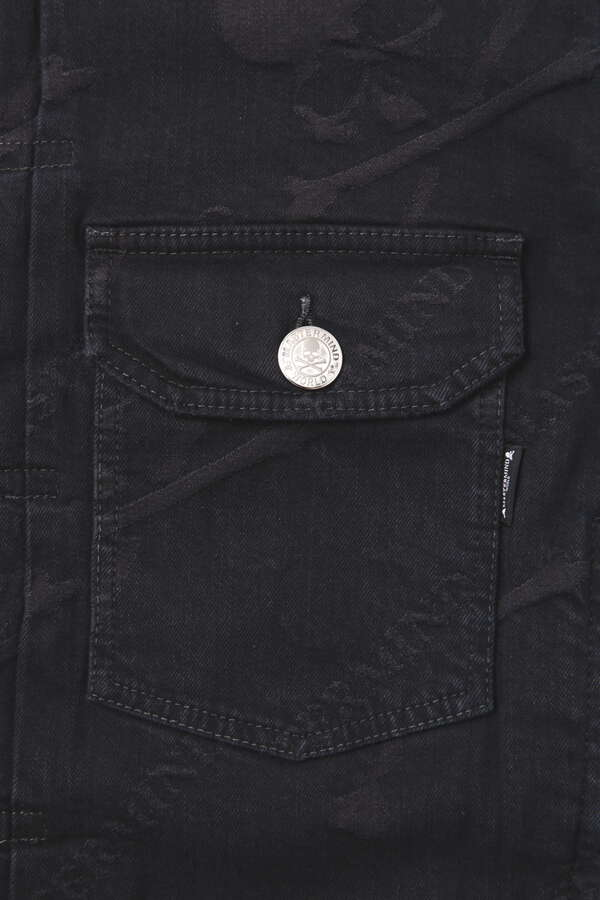 Water Repellent Monogram Denim Trucker Jacket