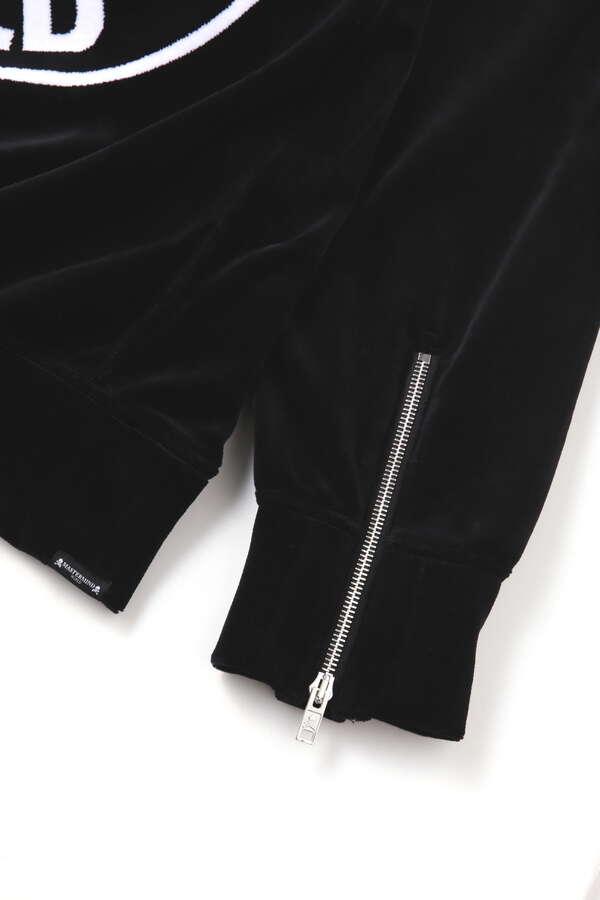 Velour Zip Up Hoodie