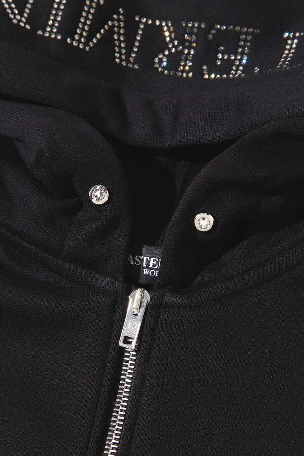Oversized Swarovski® Zip Up Hoodie