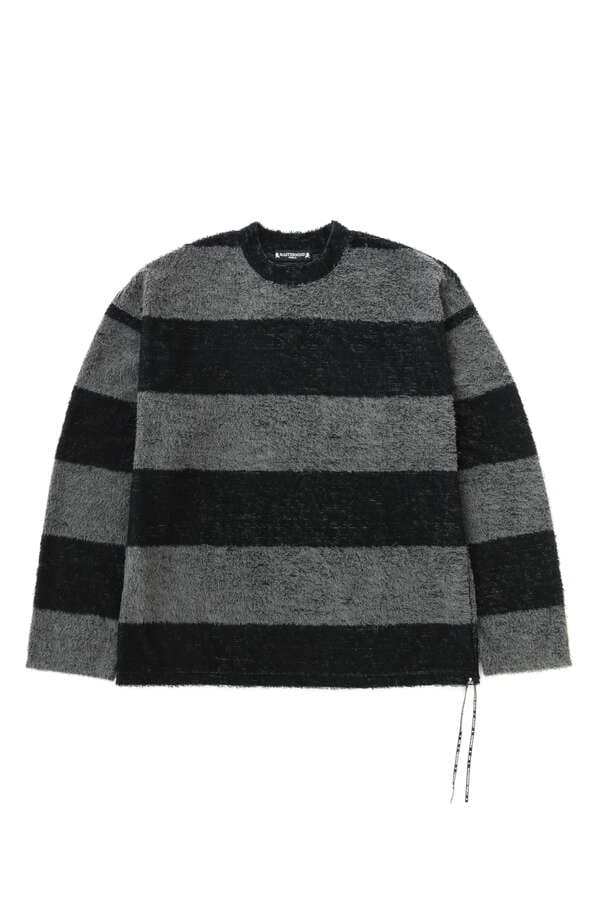 Boxy Pile Striped LS Tee