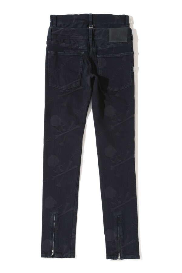 Water Repellent Monogram Denim Pants Skinny FitWater Repellent Monogram Denim Pants Skinny Fit