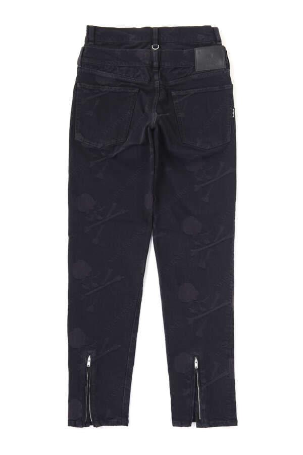 Water Repellent Monogram Denim Pants Slim Tapered FitWater Repellent Monogram Denim Pants Slim Tapered Fit