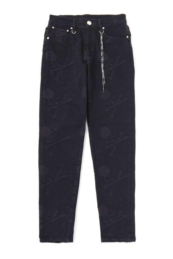 Water Repellent Monogram Denim Pants Slim Tapered Fit