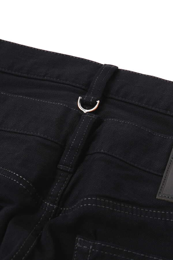 Water Repellent Stretch Denim Pants Slim Tapered Fit