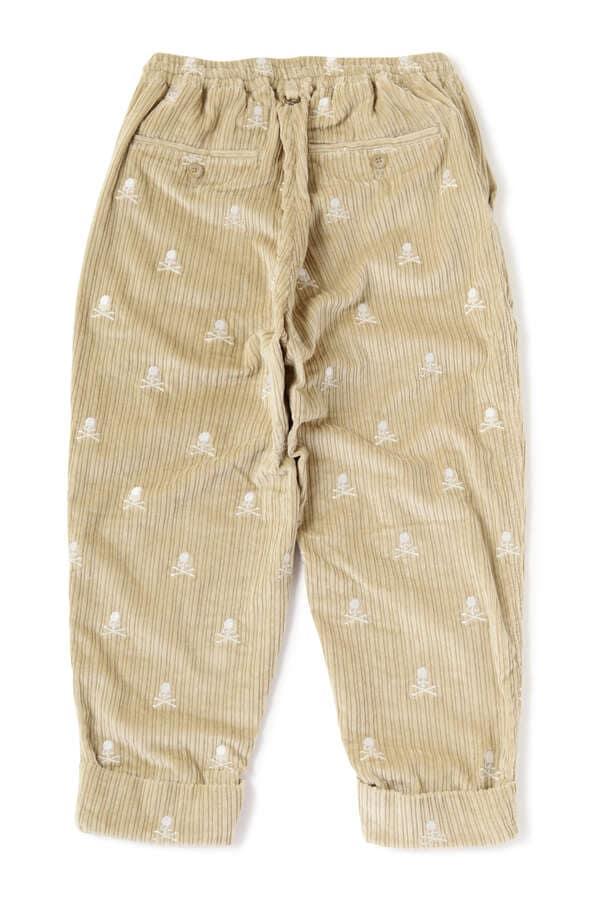 Corduroy Cropped Beach Pants Slim Fit