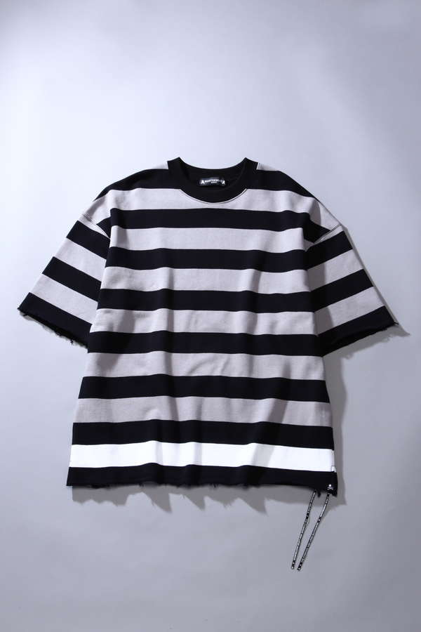 Oversized Striped S/S Crew