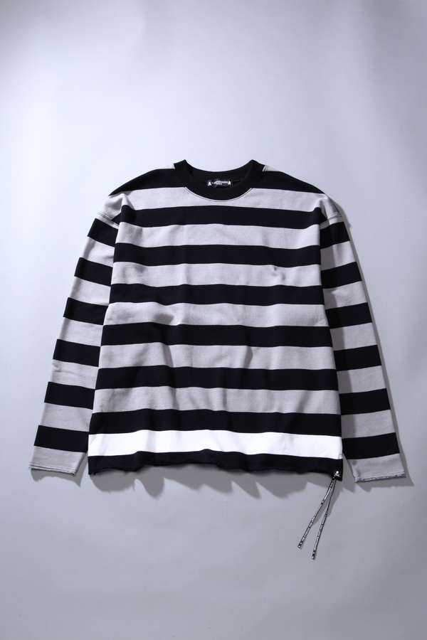 Oversized Striped L/S Crew