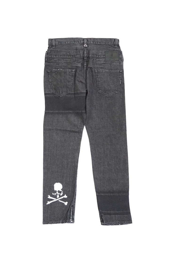 Striped Straight Denim Pant