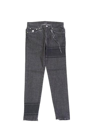 Striped Slim Tapered Denim Pant