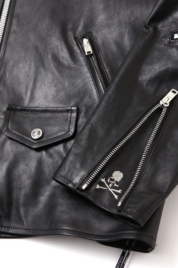 Leather Zip Up Jacket