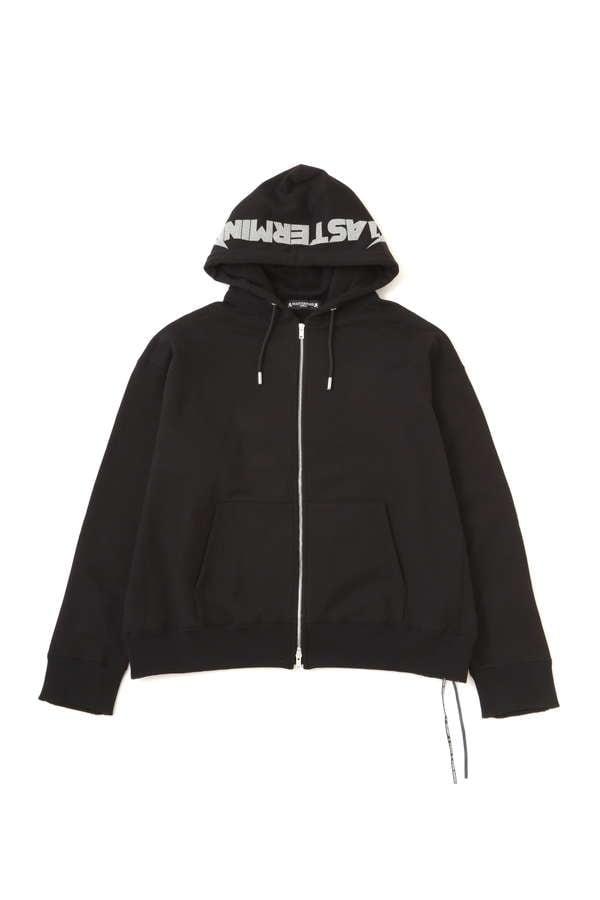 Beaded Oversized Zip Up Hoodie