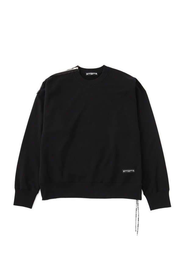 Boxy Shoulder Zipped Crewneck