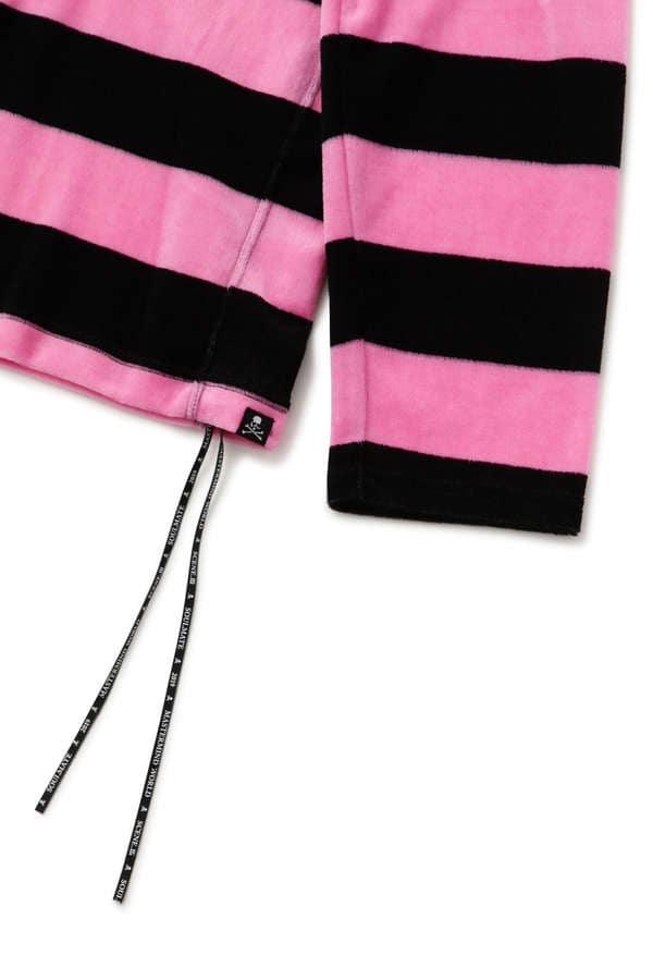 Boxy Velour Striped LS Tee