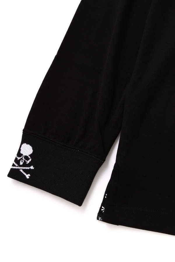 Skull & Logo Ribbed LS Tee