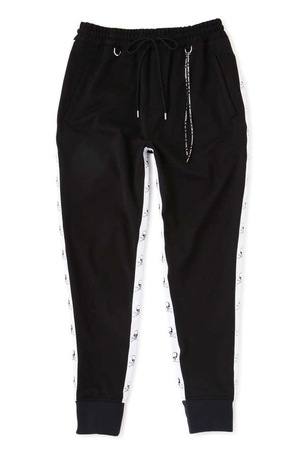 Ribbed Taped Track Pants