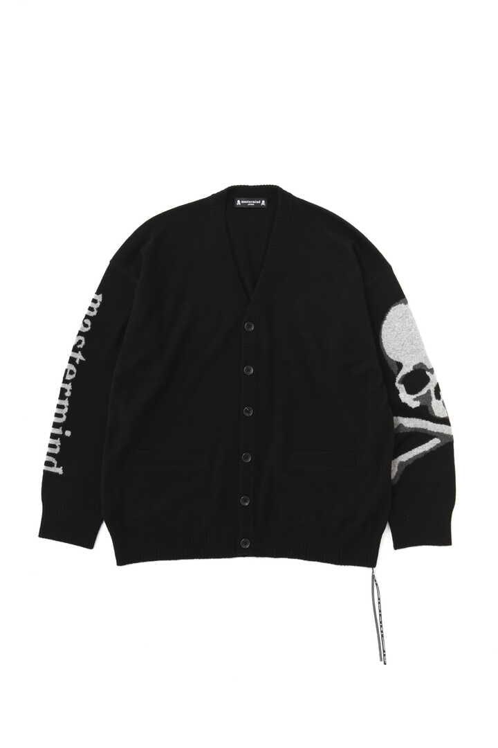 Intarsia Skull Cardigan