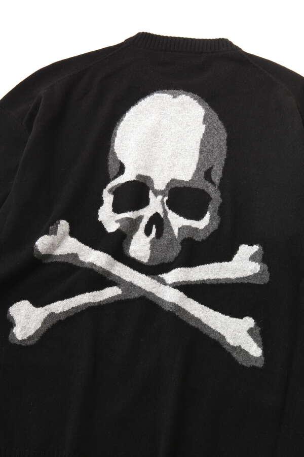 Intarsia Skull Crewneck