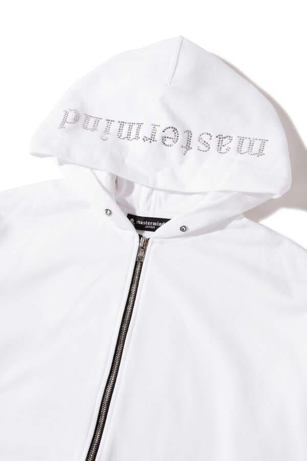 Boxy Swarovski® Zip Up Hoodie