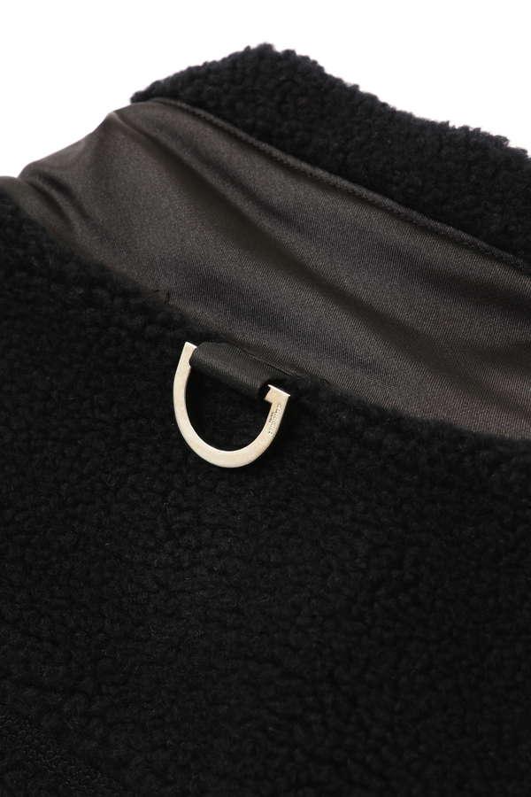 Cashmere Sherpa Zip Up Jacket
