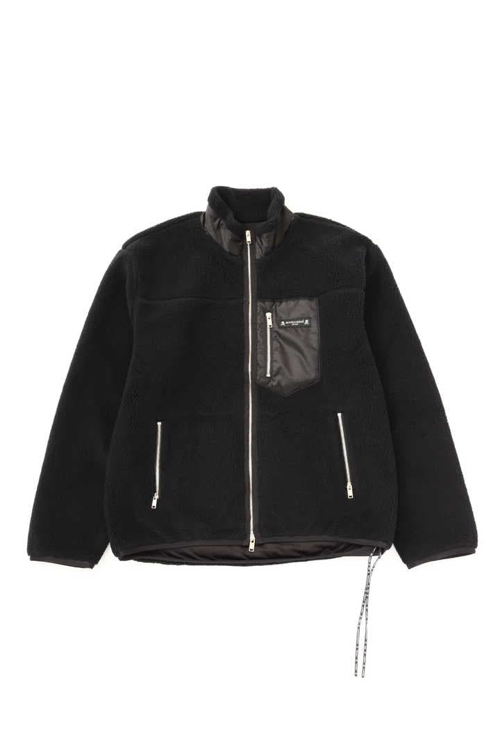 Cashmere Sherpa Zip Up Jacket